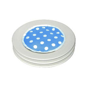 Blue and White Polka Dot - pack of 4 MicroPad Plate Warmer