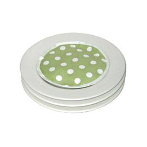 Green and White Polka Dot - pack of 4 MicroPad Plate Warmer