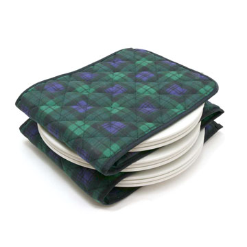 Black Watch Tartan Electric Plate Warmer